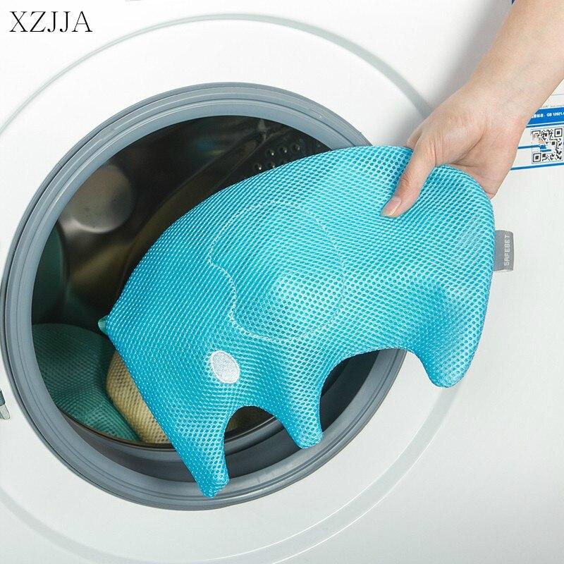 XZJJA 1PC Cute Animal Zipper Laundry Bags Clothing Underwear Bra Socks Washing Machine Mesh Bag Washing Pouch Protector Net Case