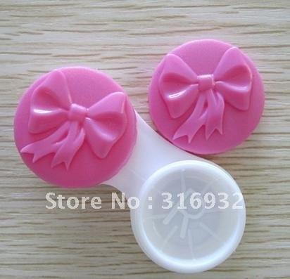 New Fashion Bow style contact lenses case/lens Companion box  30pcs/lot