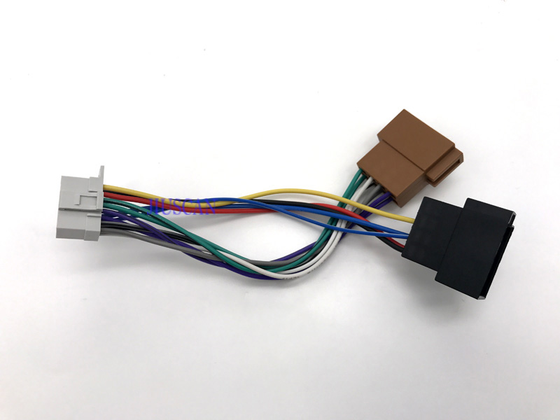 Wire harness for car stereo cd player plug for panasonic cq series