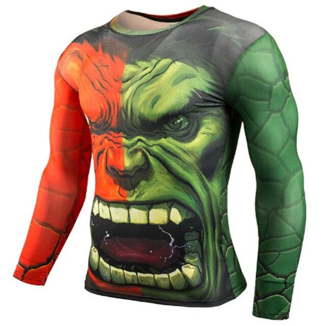 Rashgard Superman Sport Shirt Men 3D Print Quick-drying Running T-Shirts Compression Shirt Sport Fitness Tops Gym Tshirt 2
