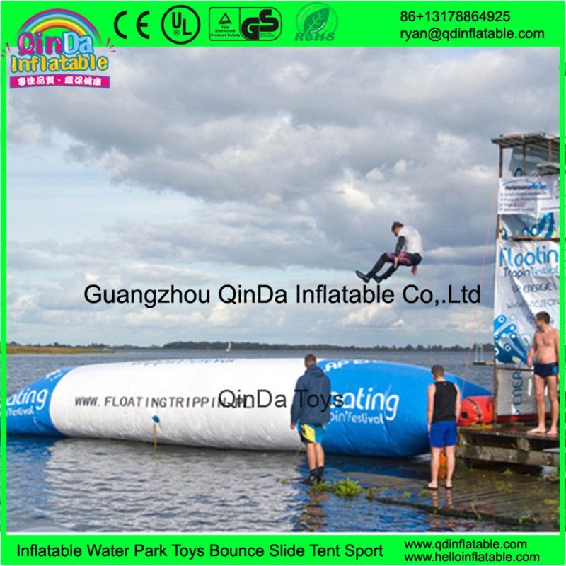 Customized size inflatable water blob jump inflatable water catapult blob for sale blob blob big yellow