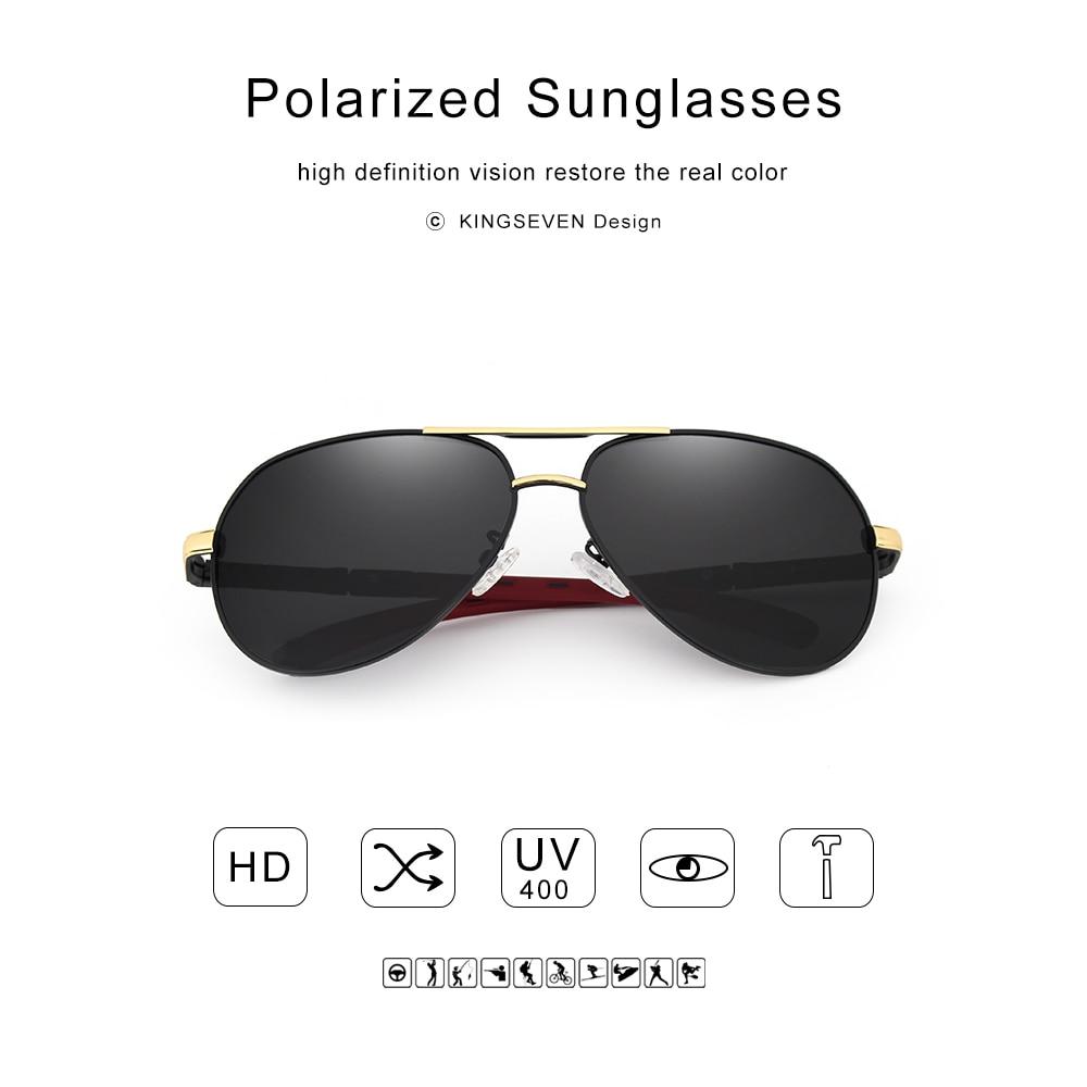 KINGSEVEN Aluminum Magnesium Men's Sunglasses Polarized Men Coating Mirror Glasses oculos Male Eyewear Accessories For Men K725 3