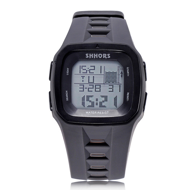 Shhors Brand Sport Digital Watch Men Silicone Watches LED Electronic Wristwatch Waterproof Clock Silicone Army Reloj Hombre 2017 2