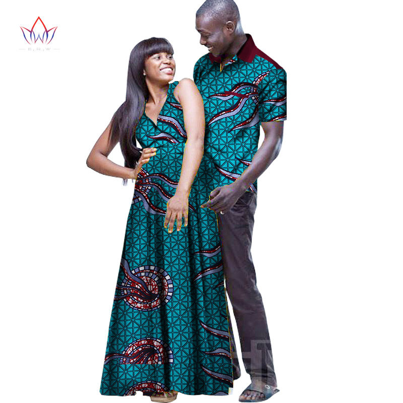 2017 New Designs Couple for Lovers Mrs Men Shirt African Print Clothes Couple Clothing Dress + Mens African Shirt Men 6XL WYQ38