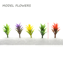 1/150 scale 2.5cm model artificial ABS plastic flower trees and plant grass