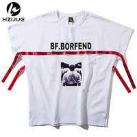 HZIJUE Mens T Shirt 2018 Summer Listing Patchwork Hooded Casual Man S Slim Fit Short Sleeve