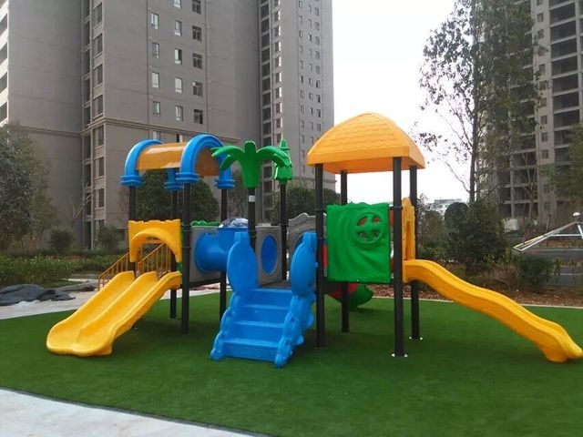 Residential Area Children Playground Equipment Ce Certified Kids Outdoor Play Slide Direct Factory Hz 5927