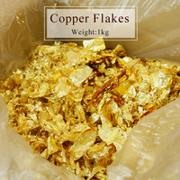 1kg Imitation gold leaf flake Color 2.5 fragment of copper for decoration, Glass, Wall, Crafts, Furniture,Painting,free shipping
