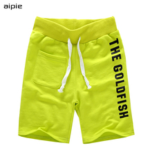 Hot saling Children boys Shorts Brand Fashion Printing Letters 100% Cotton Elastic Waist For 4-10 years kids wear