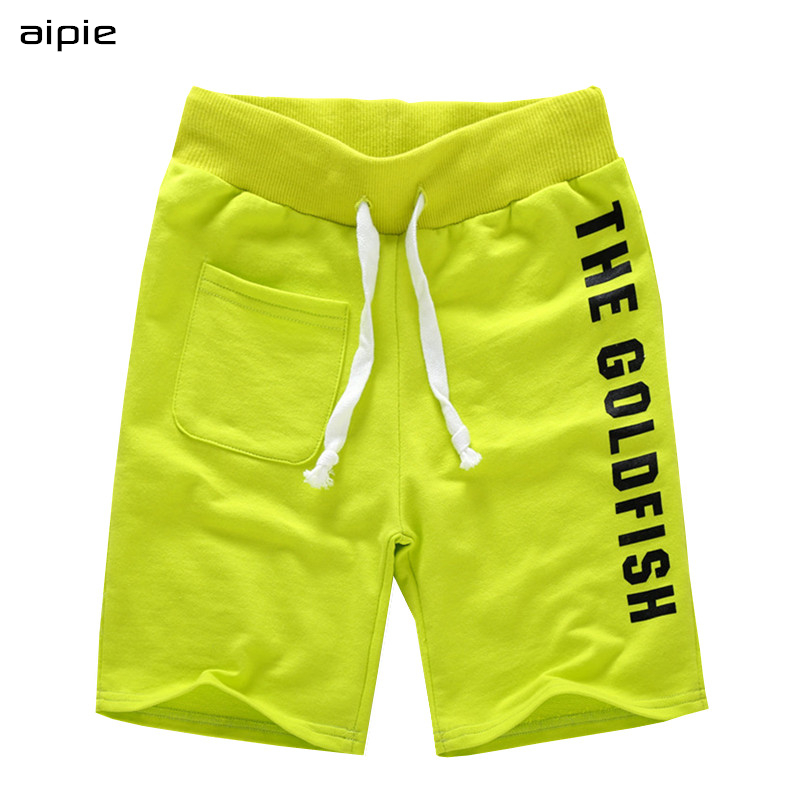 Hot saling Children boys   Shorts   Brand Fashion Printing Letters 100% Cotton Elastic Waist   Shorts   For 4-10 years kids wear