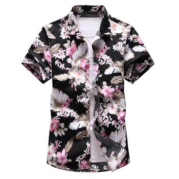 Floral Hawaiian Shirt Men's Clothing Slim fit Mens Dress Shirts Short sleeve Blouse men Summer Beach style Shirt men shirt summer new casual slim fit short sleeve hawaii shirt quick dry printed beach shirt male top blouse hawaiian shirt men