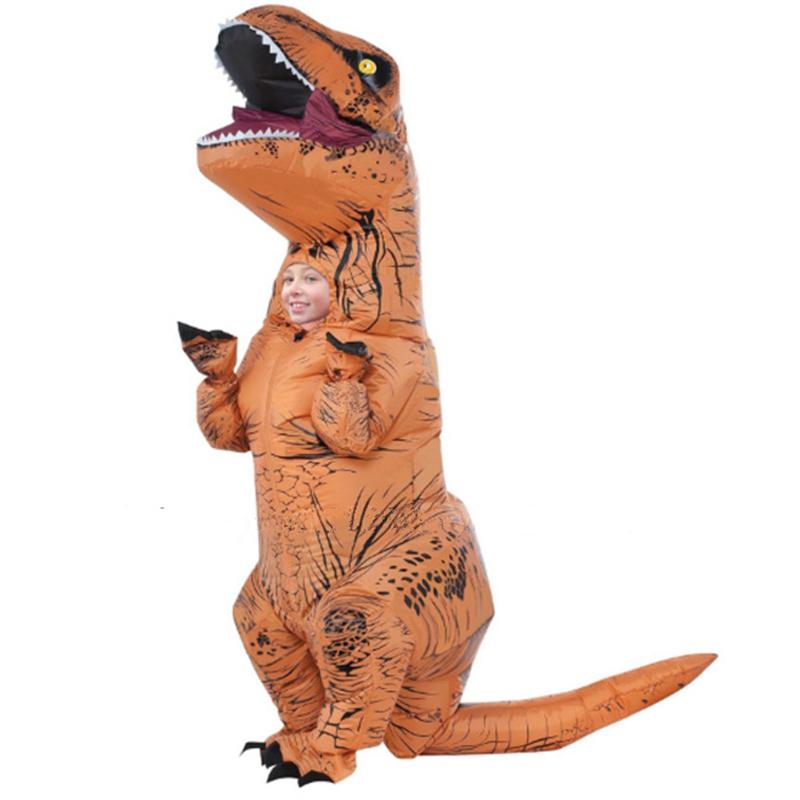 kids trex dinosaurio inflable mundo jursico parque inflable del traje de halloween cosplay fiesta