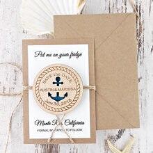 Изготовленный На Заказ морской якорь Свадебный анонс деревянный сохранить дату магниты Пригласительные открытки на помолвку стаканчики для вечеринки, подарков
