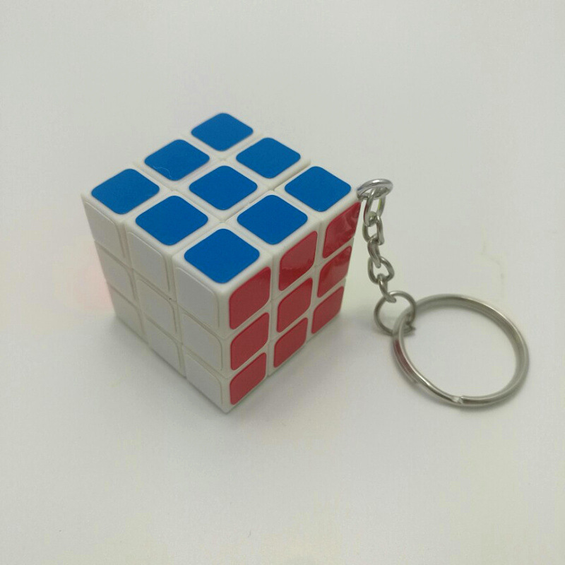 20pcs April Du Super Mini 3cm 3x3x3 ABS Magic Cube Puzzle Anti-stress Toy Educational Mind Game Kids magic board key chain d12