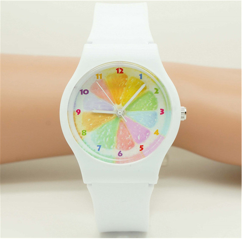 Top Selling Women Girls Fashion Jelly Orange Face Wristwatches With Japan Movement Ladies Dress Gift Silicone Waterproof Watch
