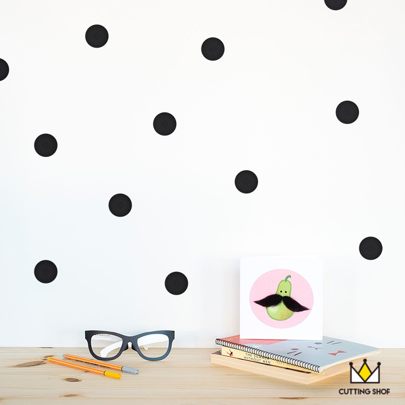 Dot pattern cute Wall vinyl Sticker Easily Removable & Waterproof  PVC  No Pollution material for kids room decoration