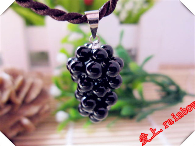 High quality natural stone quartz obsidian crystal pendant pendulum Black grapes pendants chakra  suspension Holiday gifts