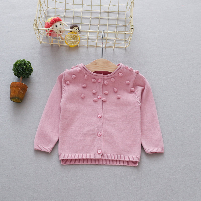 Casual-Autumn-Children-Girls-Cardigan-Baby-Infants-Long-Sleeve-Balls-Outwear-Knitting-Knitwear-Sweater-Camisola-Casaco-MT1338-4