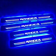 Qirun acrilico mobile a led del portello dello scuff benvenuto luce pathway lampada pannelli interni delle porte portello del piatto del davanzale per Ford Ranger 2014 2015 2016