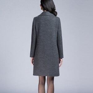 Image 3 - VogorSean Donna Autunno Inverno Cappotto Caldo Misto Lana Lungo Cappotto di Cachemire Femminile Cappotti Europeo Rivestimento di Modo Outwear Plus Size