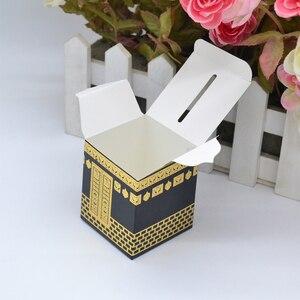 Image 5 - Musselina festival caaba design morrer corte folha de ouro hajj caixa