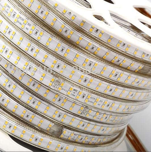 180 светодиодный/м SMD 2835 Светодиодная лента 220 в 230 в 240 В двухрядные светодиодные ленты веревочная лента для украшения дома сада - 2