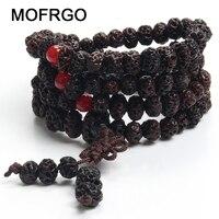 Antique Yoga Buddhist Mala 108 Wooden Beads Buddha Bracelet The Bodhi Son Charm Beads Bracelets Necklace For Men Women Jewelry