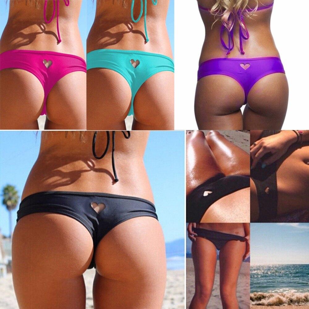 sexy t back brasiliani increspato bikini bottom costume da bagno perizoma fondo vita bassa costumi