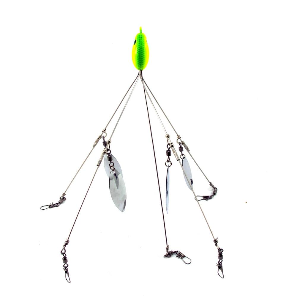 Sf one 1 5 arm 4 blades alabama umbrella rig fishing Umbrella rig fishing