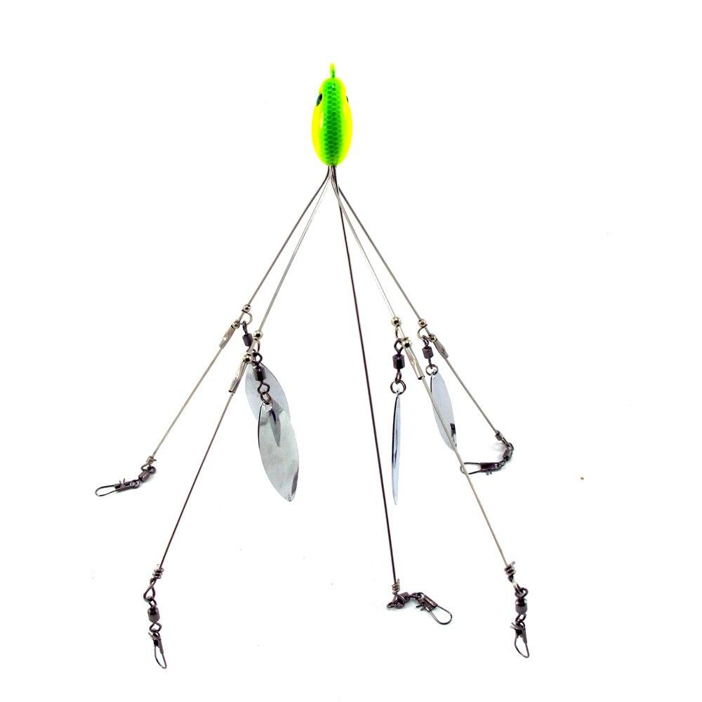 Sf one 1 5 arm 4 blades alabama umbrella rig fishing for Umbrella rig fishing