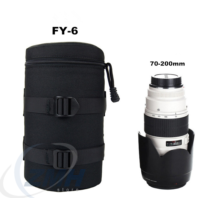 Univeral Camera Lens Pouch Bag Case Waterproof Anti-shock fo