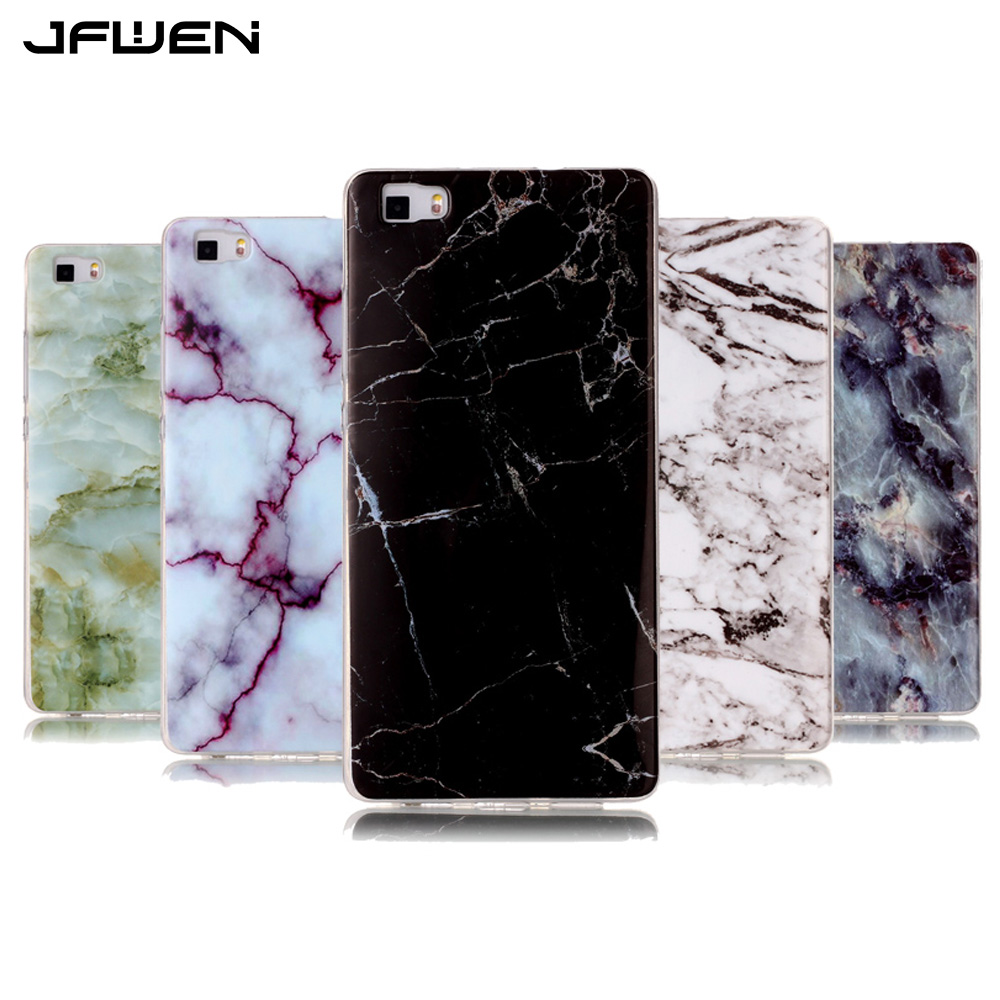 JFWEN Soft TPU Phone Cases For Fundas Huawei P8 Lite 2016 Case Silicone Luxury Marble Painted Back Cover For Huawei P8 Lite Case