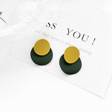 Geometrical irregular earrings elegant Circular earrings and collars Temperament is contracted earrings earrings female(China)