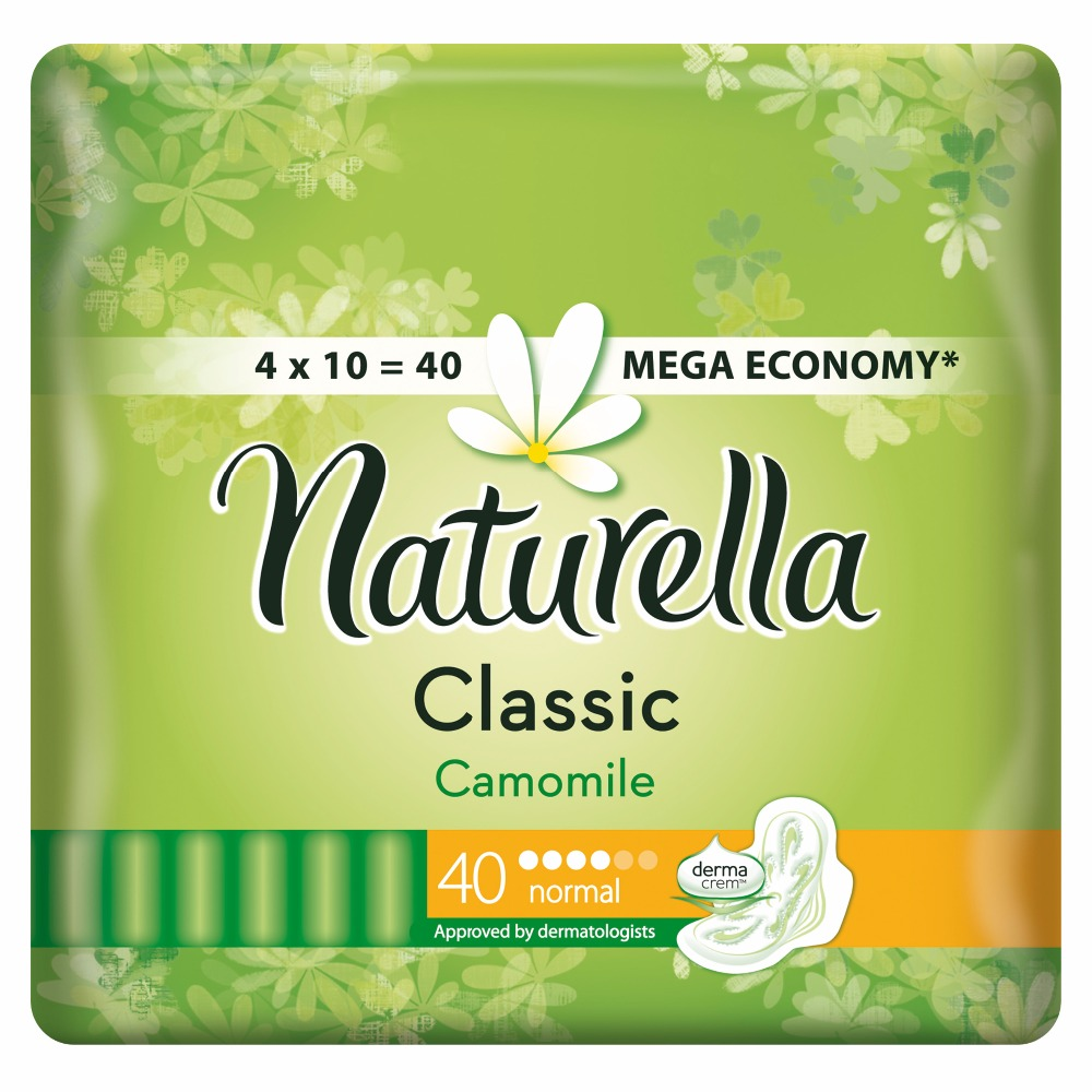 Women's Sanitary Pads Strip Naturella Classic Normal Camomile 40 pcs Sanitary Pads Feminine hygiene products недорого