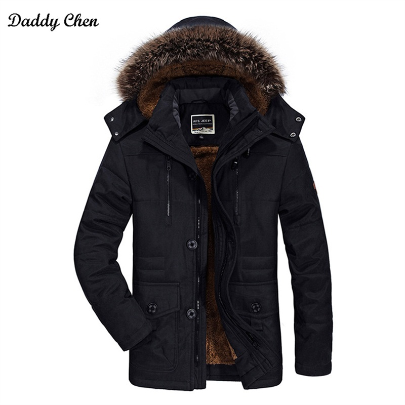 Plus Size 5XL 6XL Winter Jacket Men thick Windproof hooded warm Zipper male parka pockets Windbreaker mens jackets and coats 4XL 2017 winter jacket men cotton padded thick hooded fur collar mens jackets and coats casual parka plus size 4xl coat male