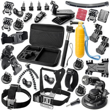 GoPro accessories 34 in 1 set mount  for Sony Action cam HDR AS15 AS20 AS200V AS30V AS100V AZ1 mini FDR-X1000V/W 4 k