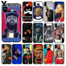 Yinuoda Rapper Nipsey Hussle Pattern  Phone Accessories Cell Case for Apple iPhone 8 7 6 6S Plus X XS MAX 5 5S SE XR Cover