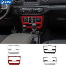MOPAI окна автомобиля панель кнопочного управления Air Кнопка кондиционера украшения крышки Стикеры для Jeep Wrangler JL 2018 до автомобильные аксессуары