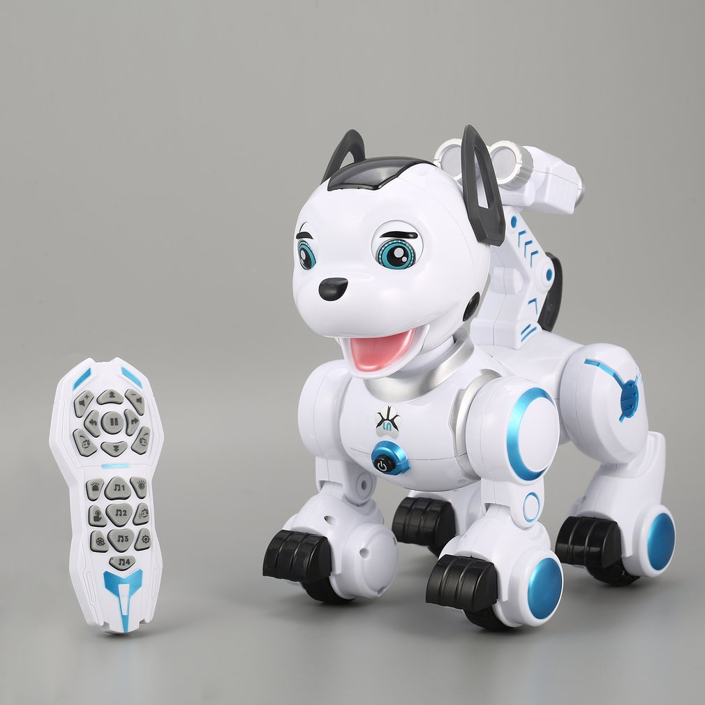 Kids Electronic Smart RC Dog Pet Toy Dance Head Spin Blink Patrol Remote Control intelligent RC Robot Dog Hobby Toys Gift K10 pet safe electronic shock vibrating dog training collar with remote control 2 x aaa 1 x 6f22 9v