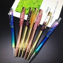 Продажа BLINGIRD 1 шт. прямых продаж 0,7 мм высокого класса кристалл ручка расход масла Фольга шариковая ручка офис школьников написание канцелярские подарок