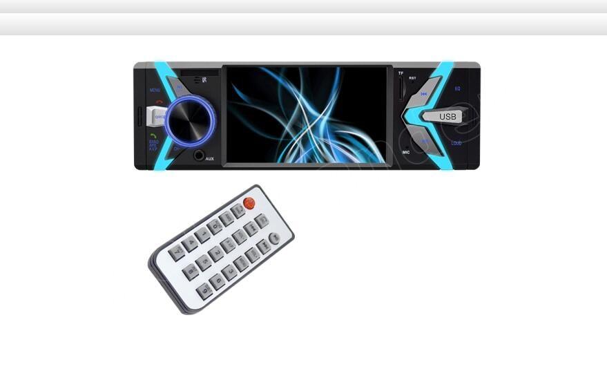 1 autoradio 4 pouces USB TF FM MP4 MP5 FM lecteur de voiture Bluetooth mains libres 12 V deux sorties vidéo de haute qualité - 5