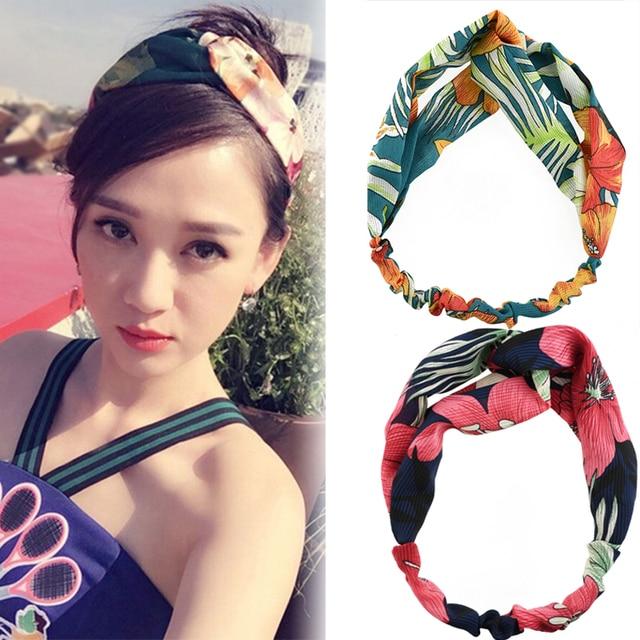 Women headwear 2018 flower headband cute hair band vintage hair holder  fashion hair accessories for women b2997060591