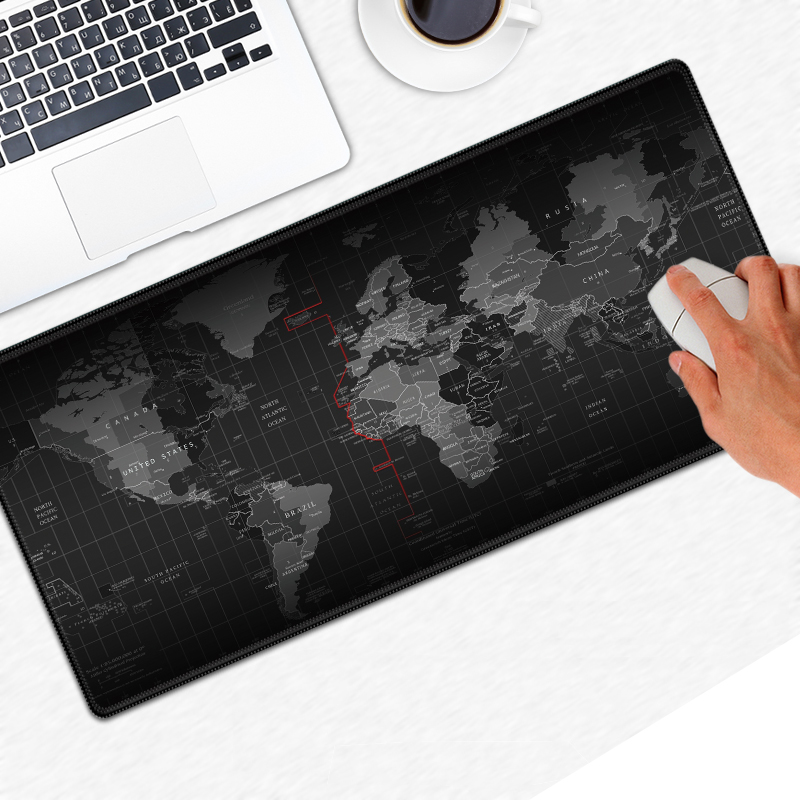 Large Size World Map Quick Custom 3D Printing Rubber Speed Game Mouse Lasting Computers Laptops Mat Pad Gaming Maps Stationery