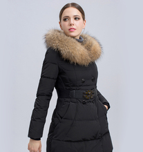 Новый Вниз и Парки 2016 Капюшоном Зимняя Куртка Женщины Теплый Одежда DHL бесплатная доставка JX518