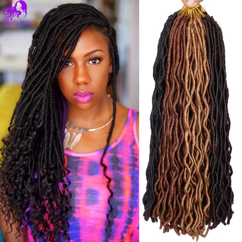 24inch Curly Freetress Wavy Faux Locks Crochet Braids Hair