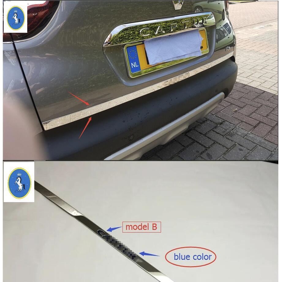 Yimaautotrims tilbehør til Renault Captur akterdørklistremerke Rustfritt stål bakdør trim Car Styling