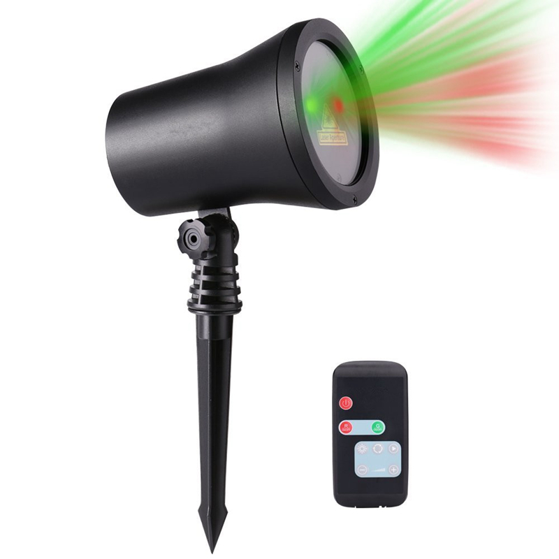 Aluminum Wireless Moving Star Projector Red & Green Laser Christmas Lights With Speed Up/down for Christmas Holiday Landscape ...