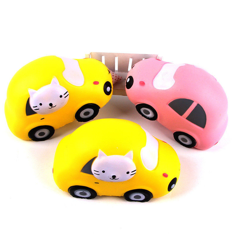 PU mochi squishy toy Cat Car Simulation Toy Slow Rebound Bounce Props Spot Stress Reliever