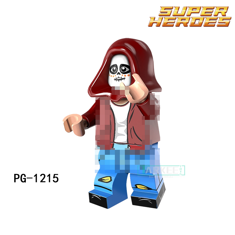 PG1215 Miguel Single Sale Building Blocks Movie Coco Day of the Dead Holiday Skeleton Skull Woman Skeleton Children Gift Toys airsoft adults cs field game skeleton warrior skull paintball mask