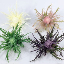 3Heads artificial glitch plant Simulated sea urchin fake plant new peculiar flower decor for home party office garden decor10pcs miss peregrine s home for peculiar children